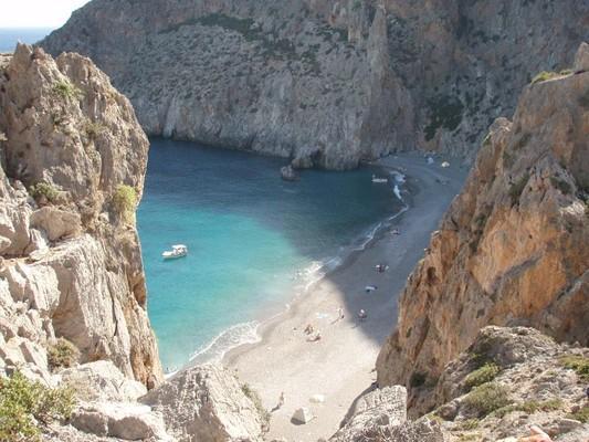 Koudoumalia, Oropedio Lasithiou, Lasithi Agiofarago Beach  Crete Greece - by nikos369
