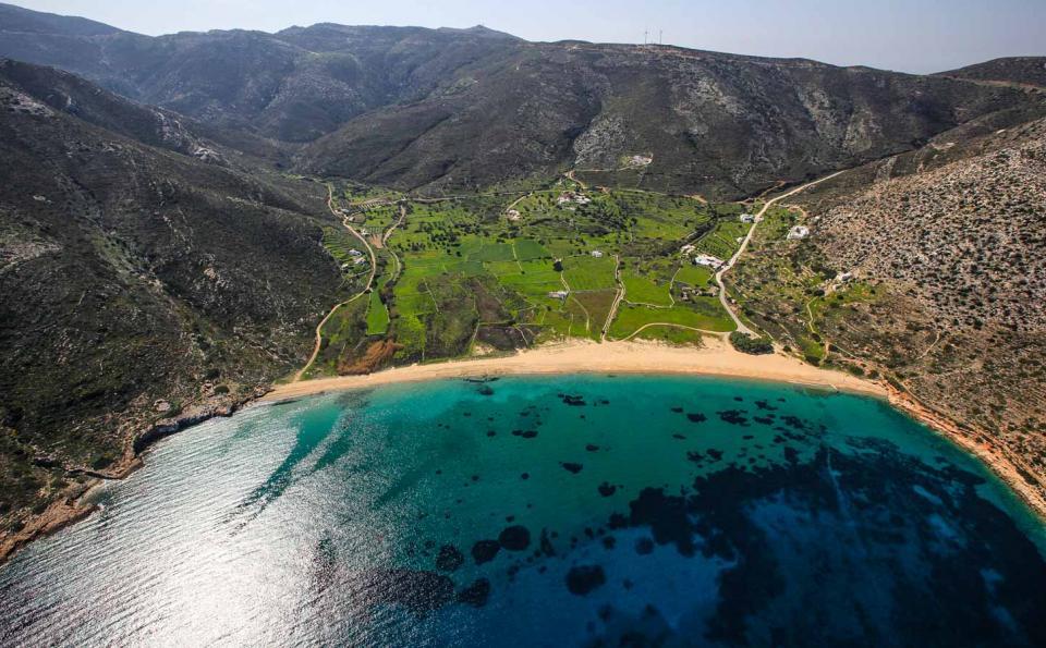 Ios Island Agia Theodoti beach  photo by www.ios.gr