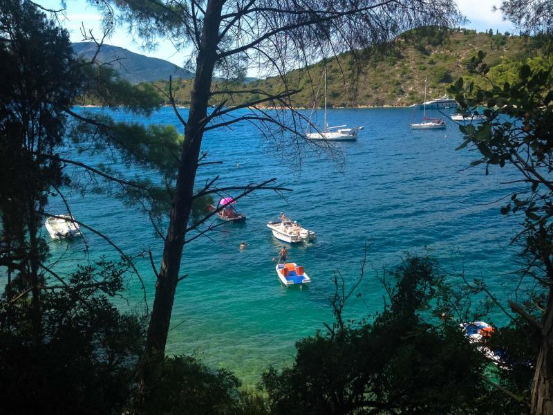 Ithaca Island Skinos bay