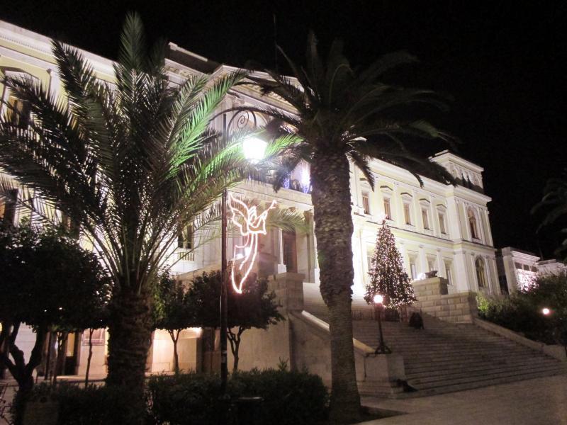 Ermoupoli, Syros, Syros Island Christmas Time around the Town Hall  Christmas 2014
