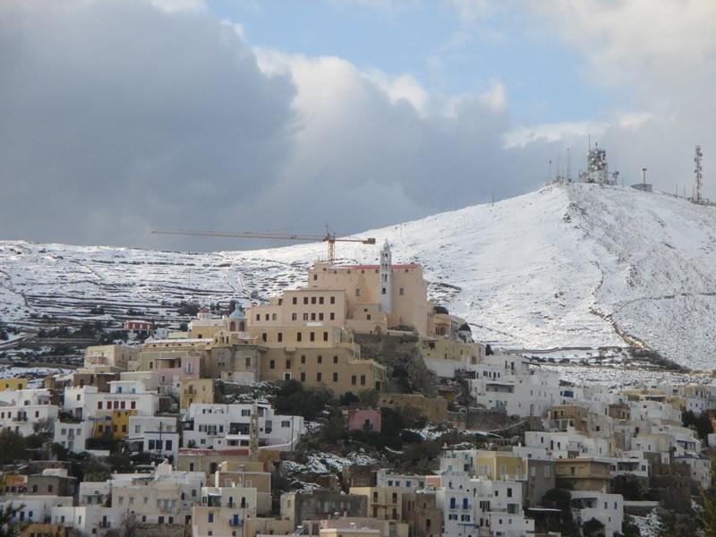 Ano Syros, Syros, Syros Island Snowy Ano Syros in January 2015  Snowy Ano Syros in January 2015