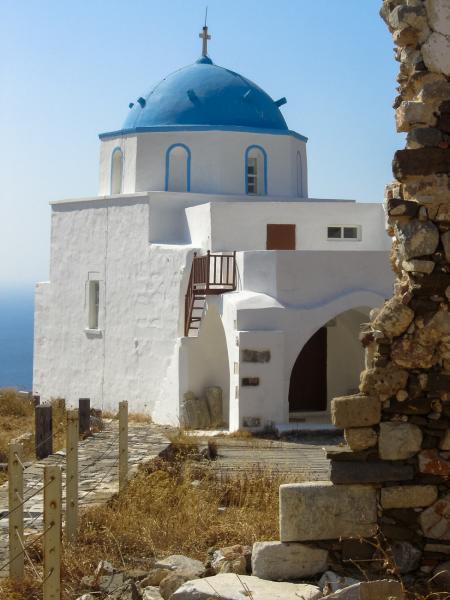 Astypalaia Chora, Astypalaia, Astypalaia Island Agios Georgios church - Astypalaia  Photo by Victoria Dedeyan