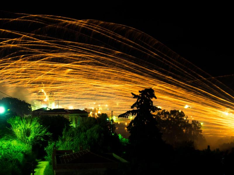 Chios Island Rocketwar in Vrontados at Easter  Michael Tetteris / Chios Tourism Department