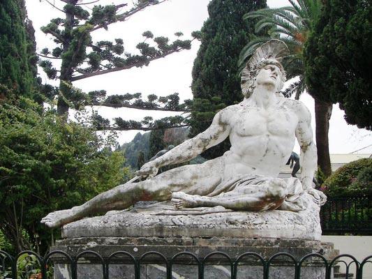Mazarakia, Igoumenitsa, Thesprotia Achilles Statue in Achilleion palace  photo by Dr.K., wikipedia.org