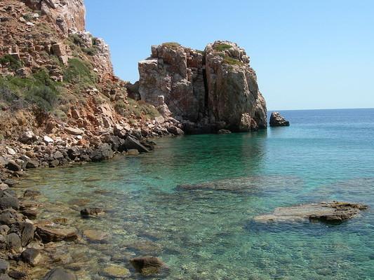 Melambes, Agios Vasilios, Rethymno Poulati Beach  photo by Jimmy-jambe, wikipedia.org