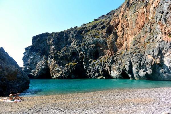 Mesopotamia, Makrakomi, Phthiotis Kalami Beach  The most adventurous beach in kythira! - by Alkisti