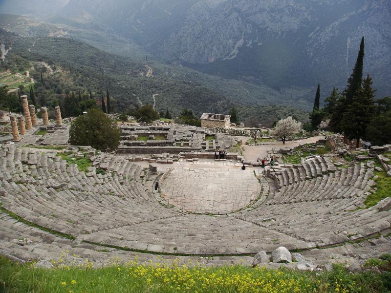 Delphi, Delphi, Phocis Ancient Theatre of Delphi  Photo by wikipedia.org