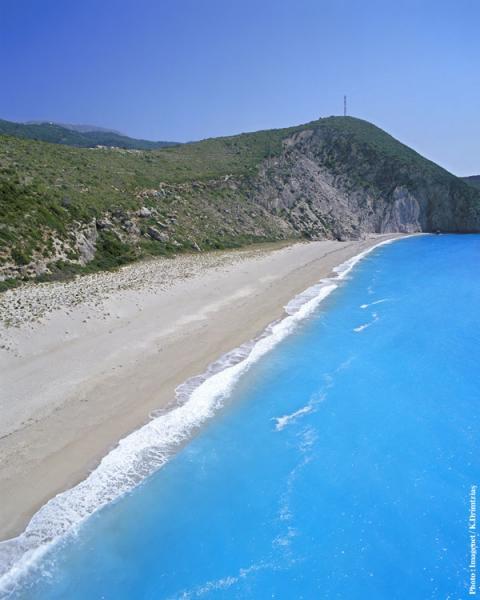 Lefkada Island Milos Beach  photo by www.lefkada.gr