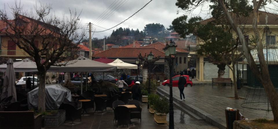 Vytina, Gortynia, Arcadia Vytina's main square