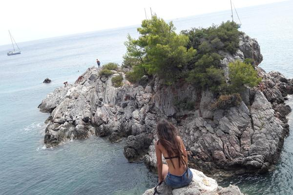 Skopelos Island Over the edge  Skopelos - by Fwteini Irmaki