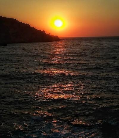 Agios Georgios - Aggelokastro, Agrinio, Aetolia-Acarnania When nature paints......  Sunset in Kini - Syros - by Dimitris