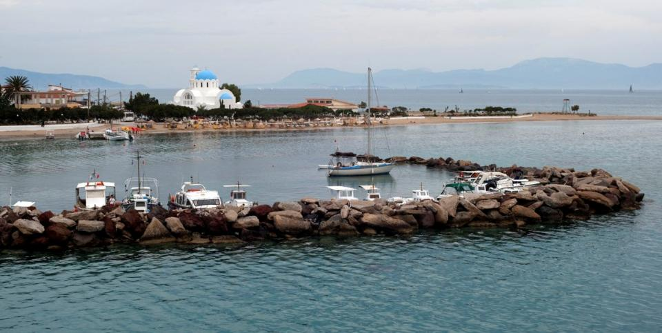 , <br>Skala harbour Angistri island Greece by Ggia commons.wikimedia.org