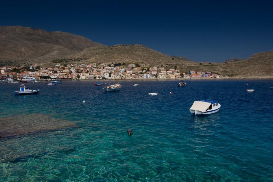 Halki Island Halki from far