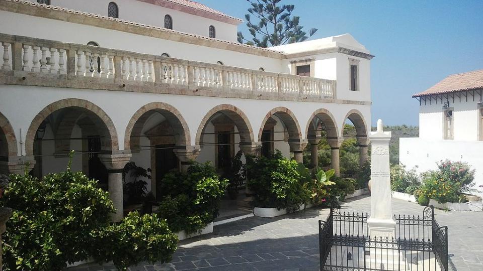 Kythira Island Monastery of Panaghia Myrtidiotissa  photo by FocalPoint commons.wikimedia.org/wiki