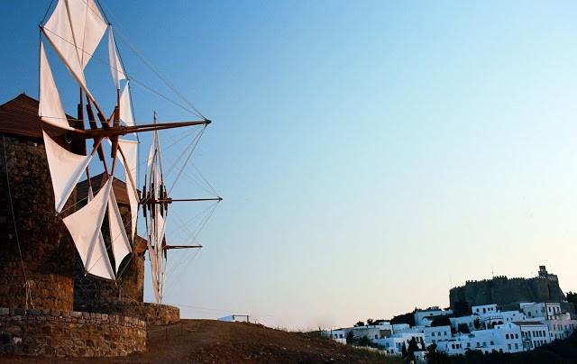 Patmos Chora, Patmos, Patmos Island Windmills  Photo by Giannis Paschalidis