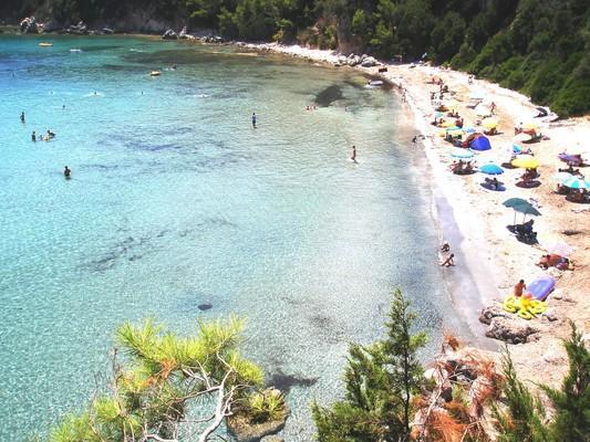 , <br>Τα κρυστάλλινα νερά αυτής της παραλίας είναι η ιδανική λύση για μπάνιο, όταν οι βοριάδες δεν επιτρέπουν να το απολαύσεις σε κάποια άλλη κοντινή παραλία. - by spidrman