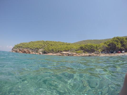 Kato Sagkri, Naxos, Naxos Island In the water  Swimming at Dragonera beach. - by militsamilenkova