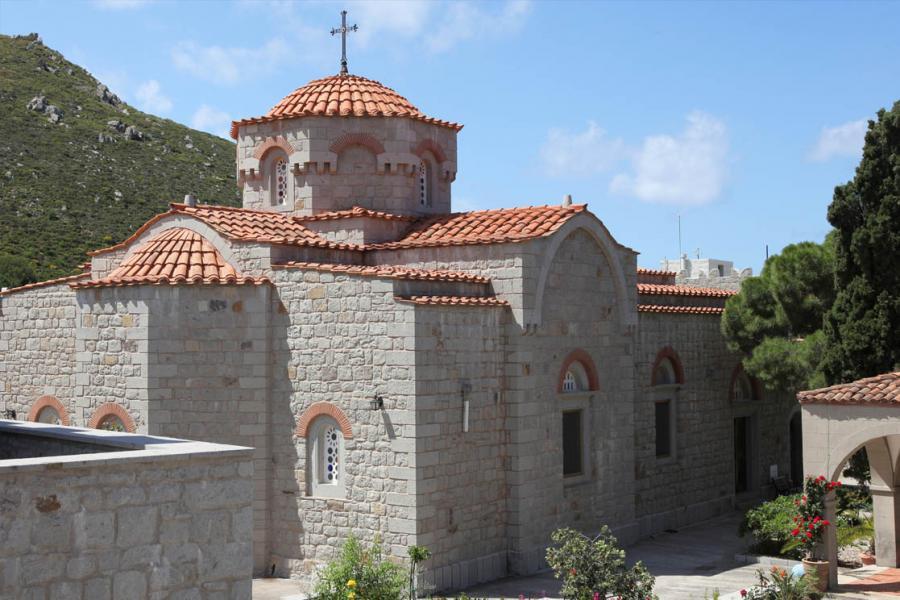 Patmos Island Holy Annunciation Monastery  photo by www.patmos.gr