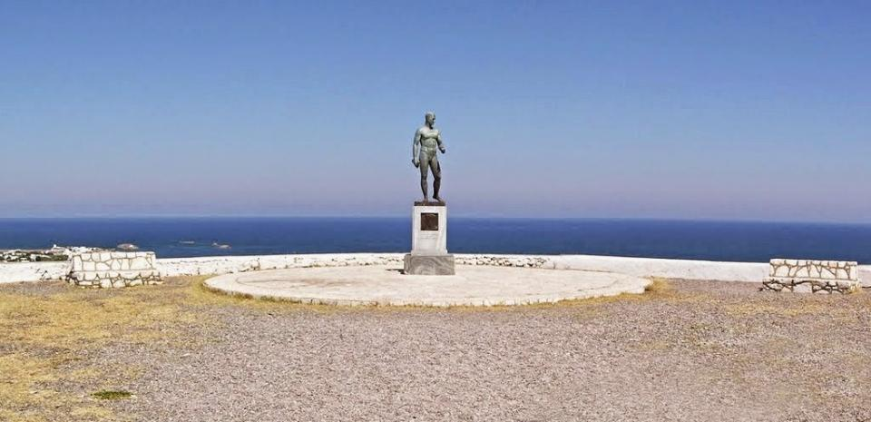 Skyros Island The Statue of Rupert Brooke  photo by athamastos.blogspot.gr