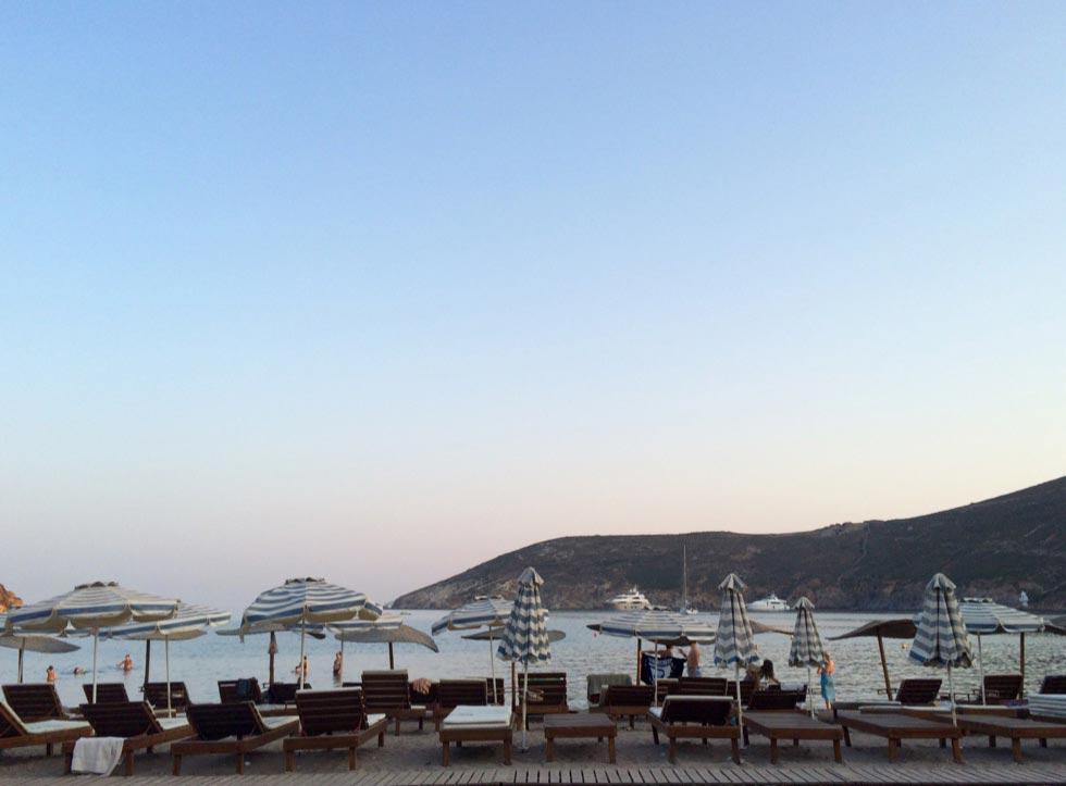Kampos, Patmos, Patmos Island kampos beach  sunset