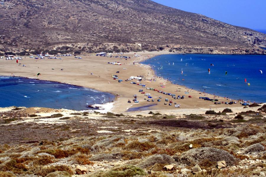 Prasonisi - Faros, Rhodes, Rhodes Island Prasonisi beach