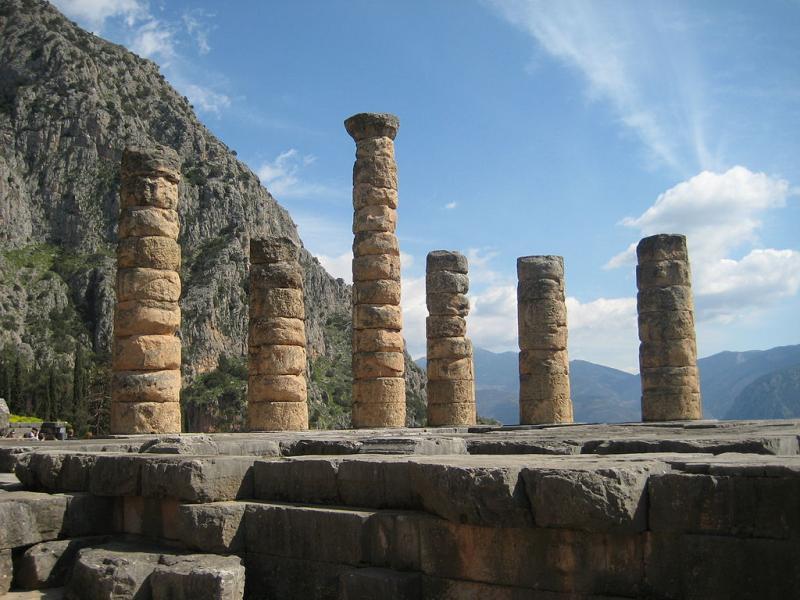Delphi, Delphi, Phocis Columns of the Temple of Apollo at Delphi