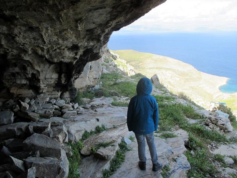 Chalandriani, Syros, Syros Island PHERECYDES CAVE  View from Pherecydes cave
