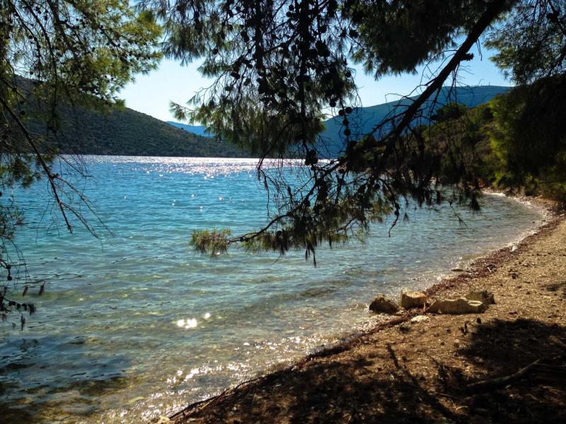 Ithaca Island Skinos beach