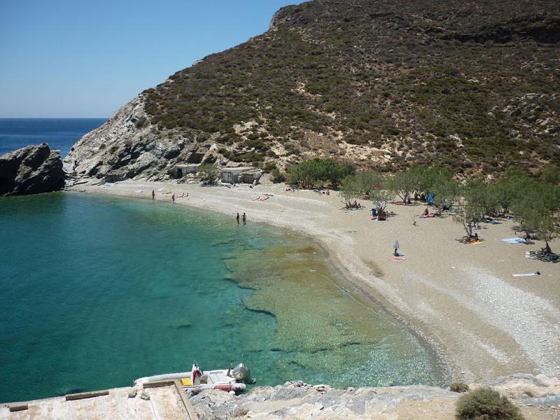 Folegandros Island Agios Nikolaos beach