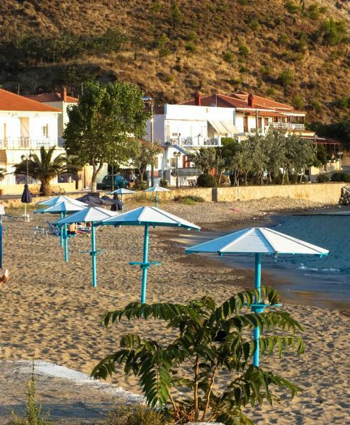 Myrina, Lemnos<br>Tourkikos gialos beach in Lemnos island.