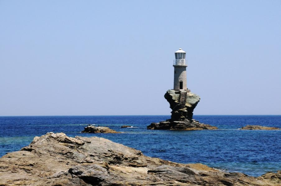 Andros Island Tourliti lighthouse  photo by anjči - http://www.flickr.com/photos/9899582@N05/359347364 commons.wikimedia.org/wiki