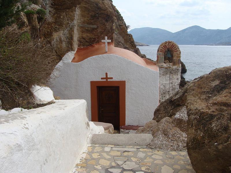 Leros Island Kavouradena Church  photo by Tvrochid / Tvrochid commons.wikimedia.org/wiki