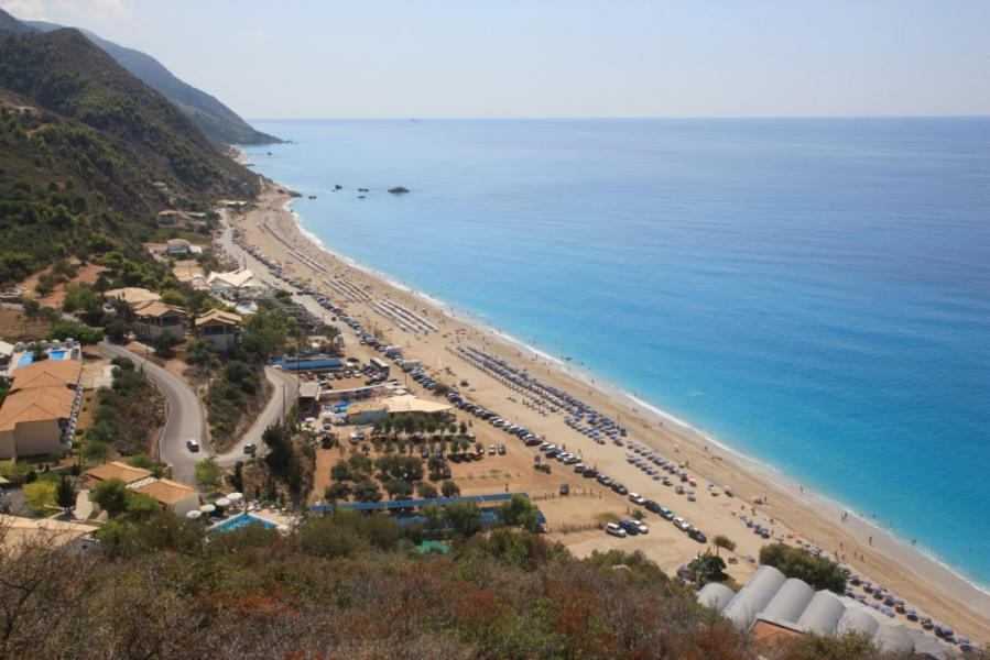 Lefkada Island Kathisma Beach  photo by www.lefkada.gr
