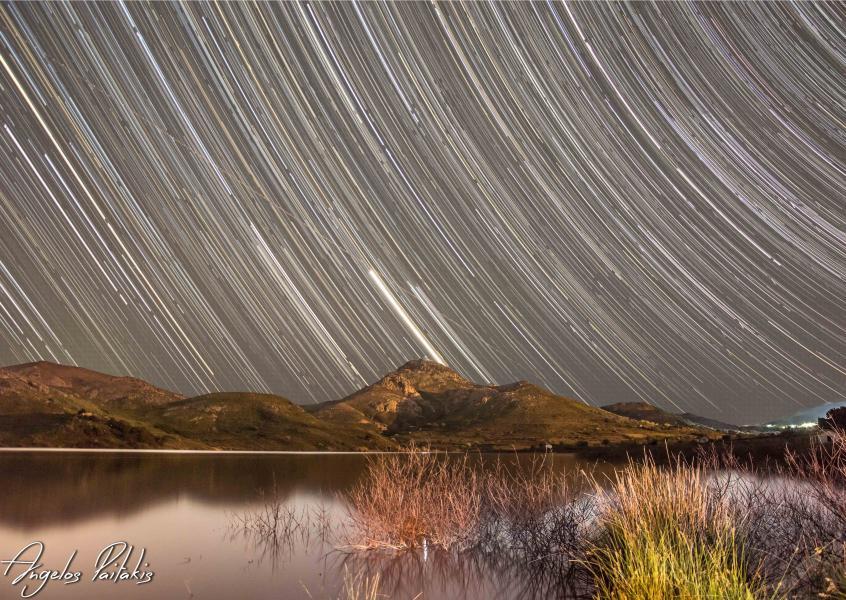 Myrina, Lemnos, Lemnos Island Star trails in Lemnos  Location:Fragma Agiou Dimitriou