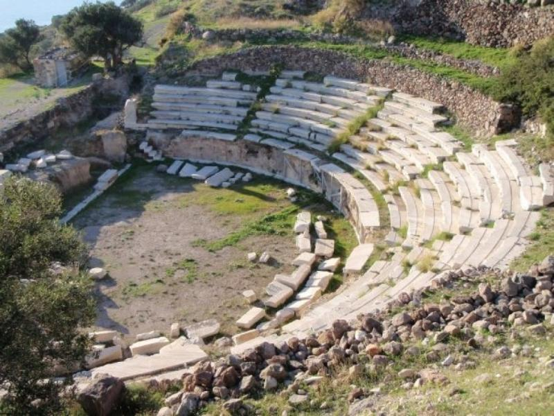 Milos Island Ancient Roman Theatre  photo by www.milos.gr