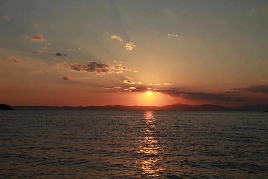Kythnos Island Sunset in Kolones beach  Sunset in Kolones beach - Kythnos - by adampao