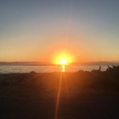 Aneratza, Paros, Paros Island Kato Nisi Beach  Sunset time - by konhat