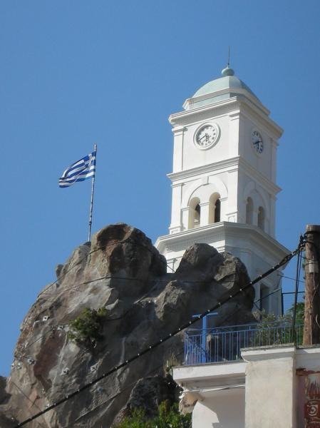 Poros Town, Poros, Poros Island Clock Tower  Photo by: Justkillingtime commons.wikimedia.org