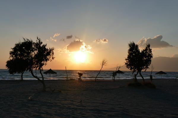 Delfini, Chios, Chios Island Sunset Afratias Beach  Sunset Afratias Beach - by HeikeW