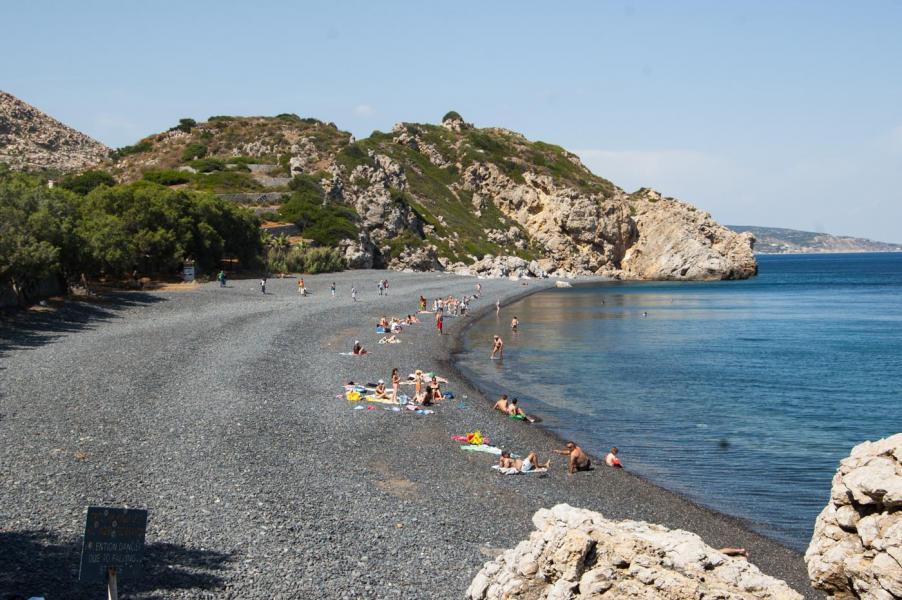 Chios Island Mavra Volia beach  Photo by Maria Kova/ Chios Tourism Department archive