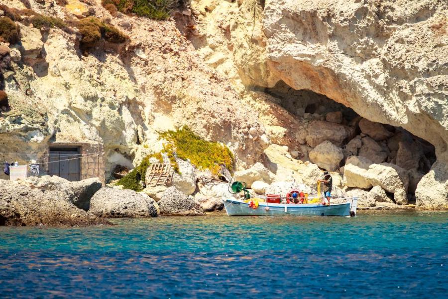 Kimolos Island Fisherman in Kimolos    - by adampao