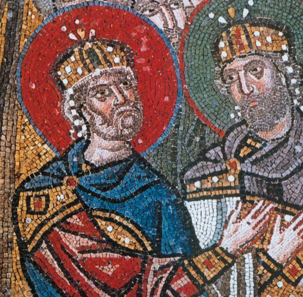 , <br>Detail of the famous Nea Moni mosaics, UNESCO world heritage monument Photo by Chios Tourism Department archive