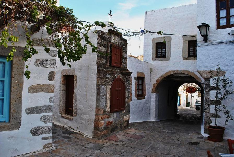 Patmos Chora, Patmos, Patmos Island Steet of Chora Patmos