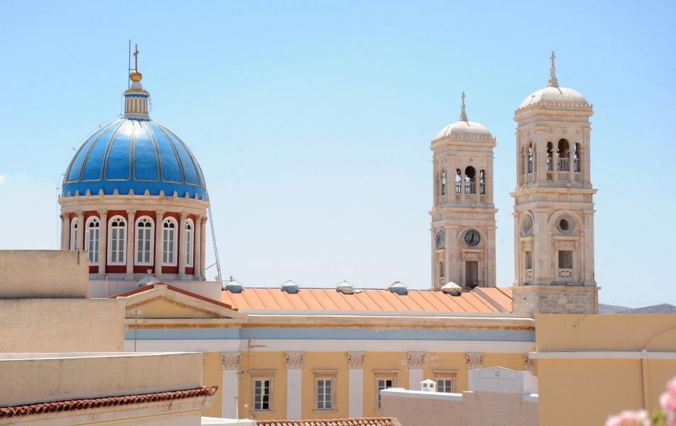Ermoupoli, Syros, Syros Island Agios Nikolaos church  Agios Nikolaos church in Vaporia. - by yallou