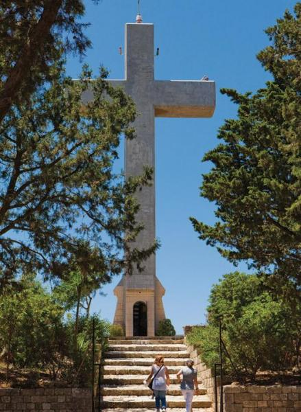 Ialysos, Rhodes, Rhodes Island Cross of Filerimos  photo by http://www.rodosisland.gr