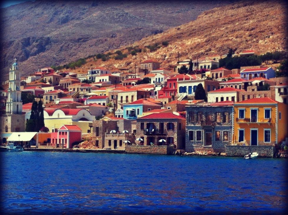 Halki Island Halki  View from the sea