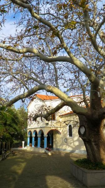Myrina, Lemnos<br>Agios Panteleimon church in Myrina, Lemnos island.