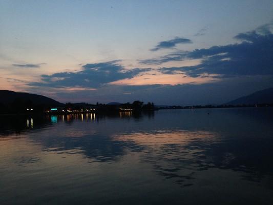 Lefkos, Ditiki Achaia, Achaea Ioannina Lake  Lake of Ioannina Pamvotida at night!!! - by Αντωνία
