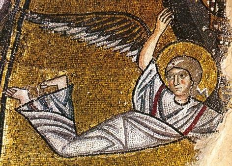 , <br>Detail of the famous Nea Moni mosaics, UNESCO world heritage monument. Photo by Chios Tourism Department archive
