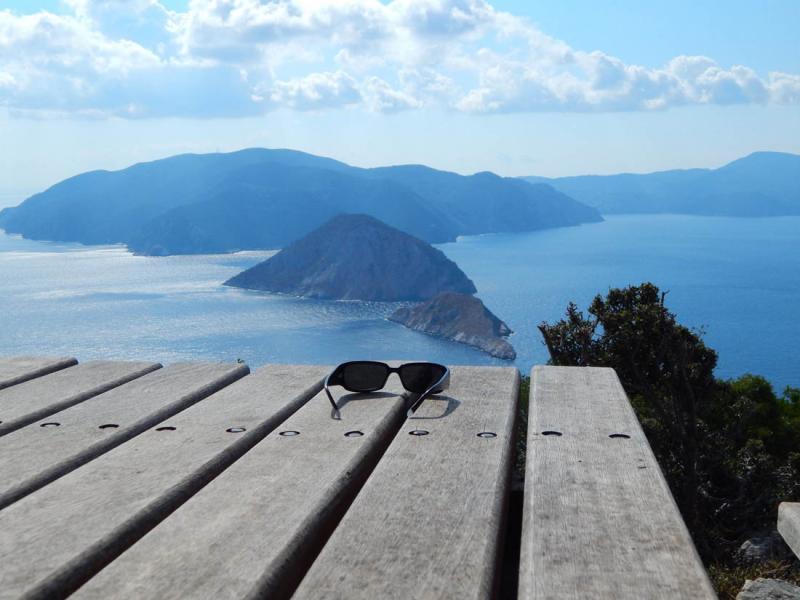 Alonnisos Island Sunglasses and Kalovoulos  Photo by Vasilis Drosakis